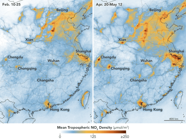 Nitrogen Dioxide Levels Rebound in China