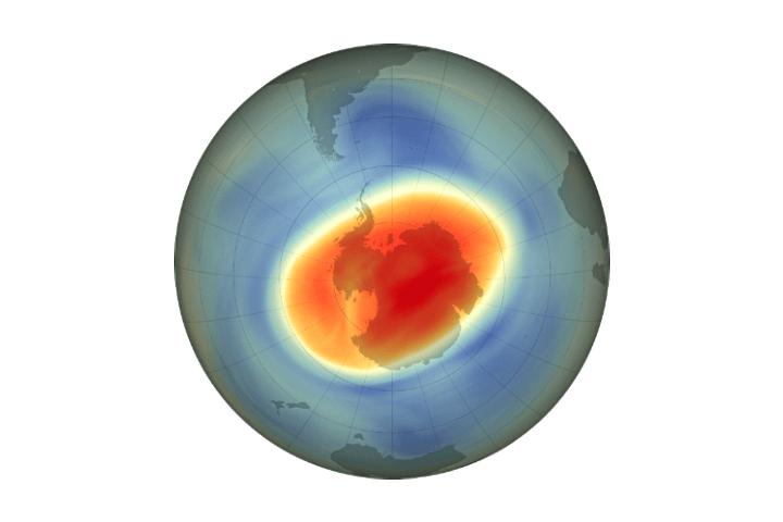 Large, Deep Antarctic Ozone Hole in 2020