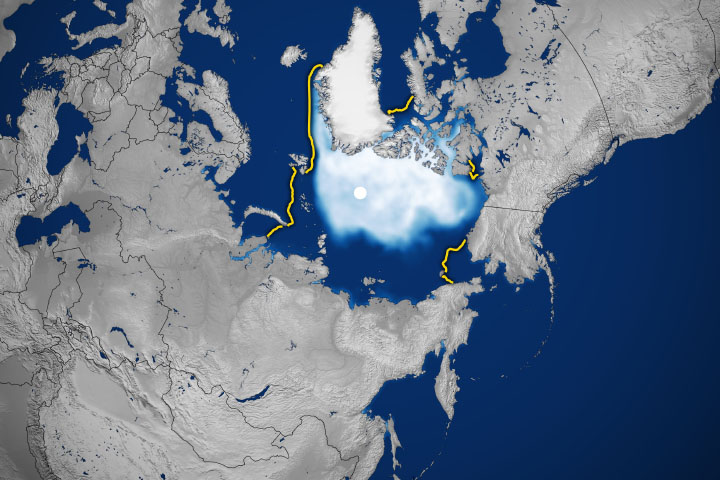 Sluggish Start for Arctic Sea Ice Freeze-Up