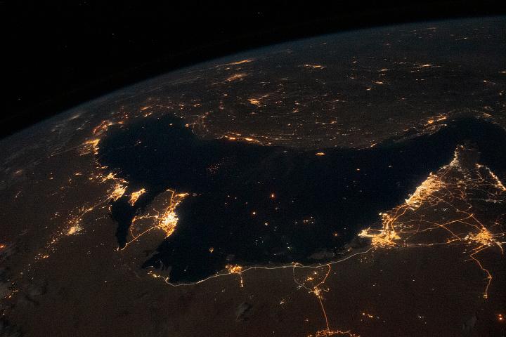 Bustling Persian Gulf at Night
