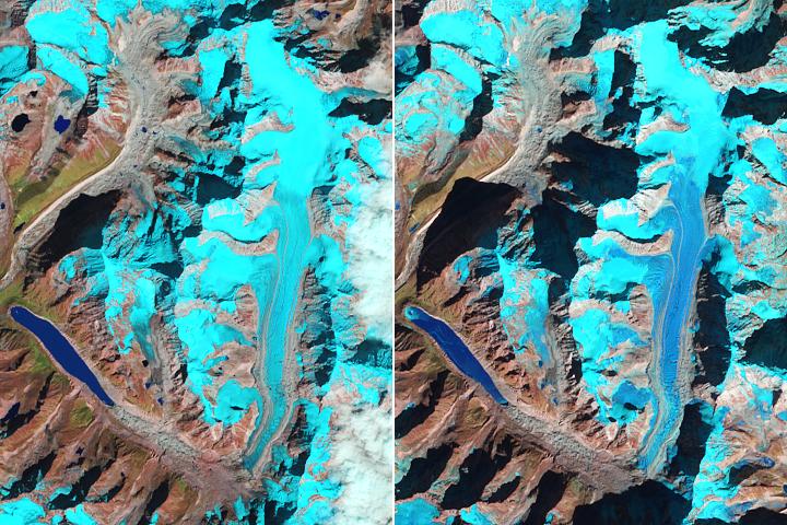 Snow-Free Glaciers in Winter