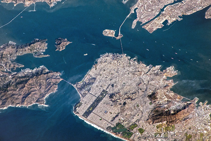 A Clear Day Over San Francisco Bay