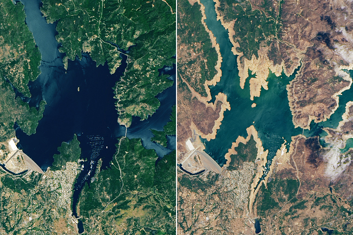 California Reservoirs Reflect Deepening Drought