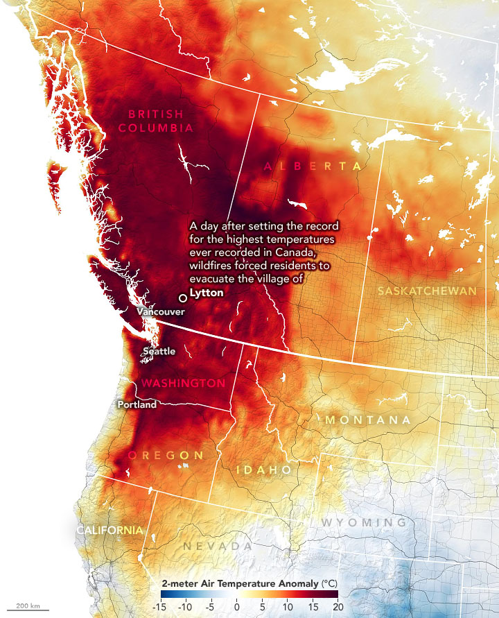 Now extreme fires are raging throughout the state. Blazes Rage In British Columbia