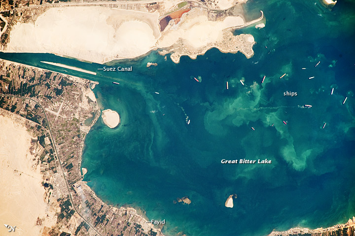 Great Bitter Lake, Suez canal, Egypt.