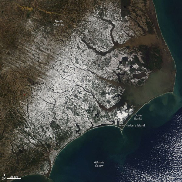 Snow in Coastal North Carolina : Natural Hazards