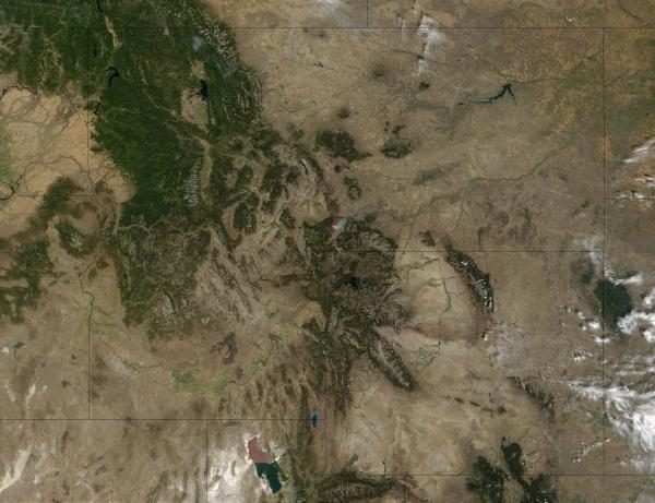 NASA Visible Earth: Fires in Montana and Wyoming