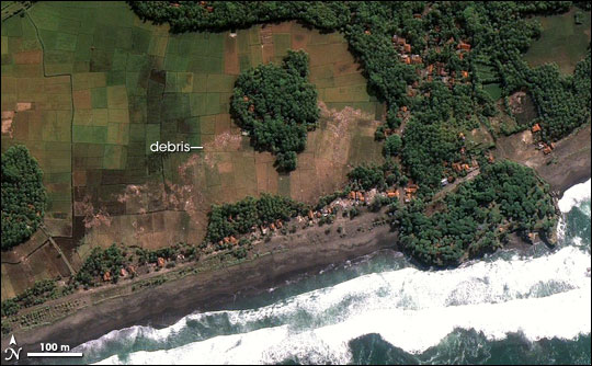 Tsunami Damage in Java : Image of the Day