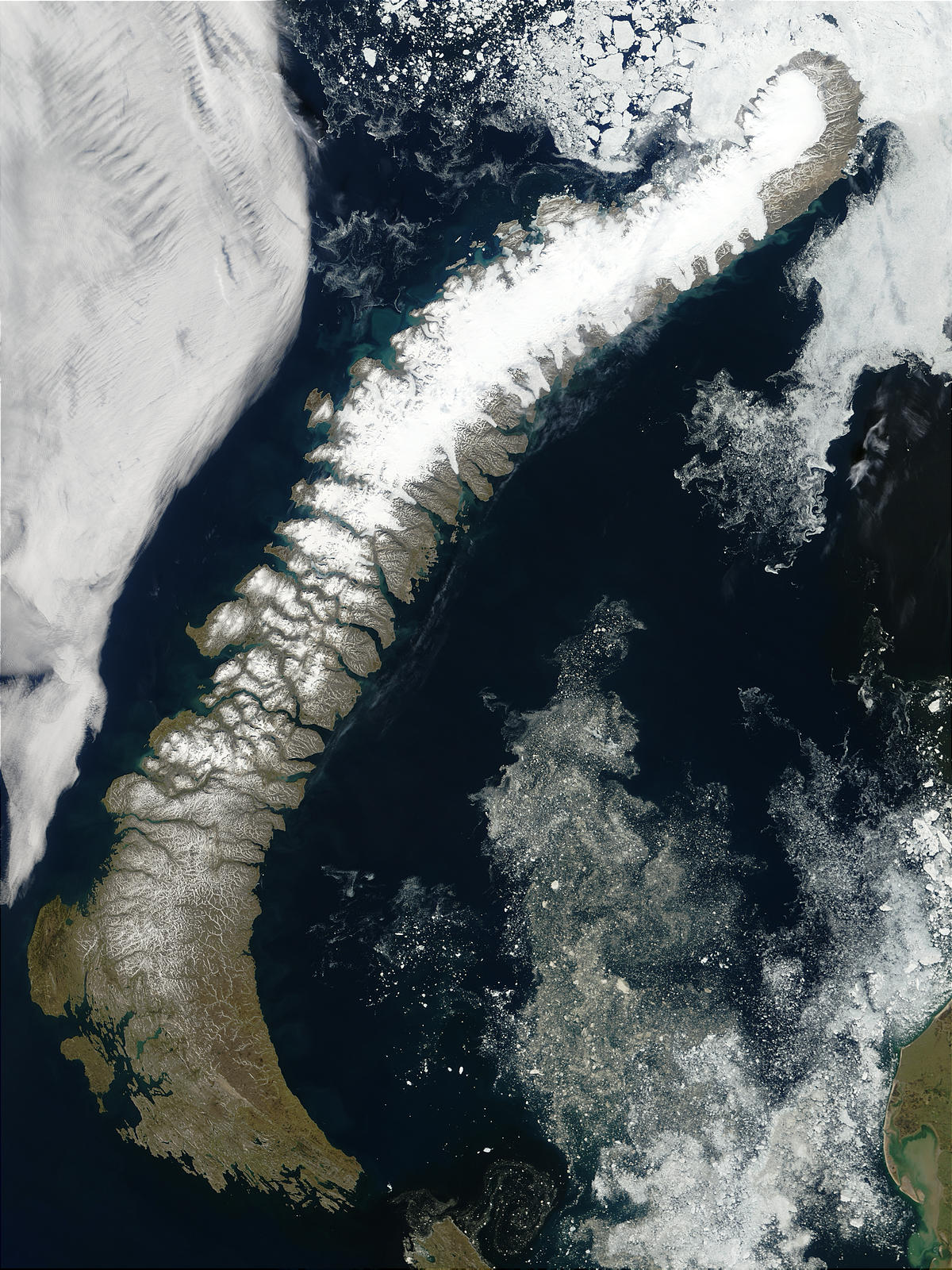NASA Visible Earth Novaya Zemlya Northern Russia