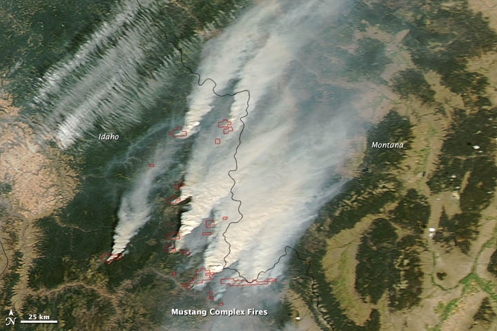 Mustang Complex Fires in Idaho