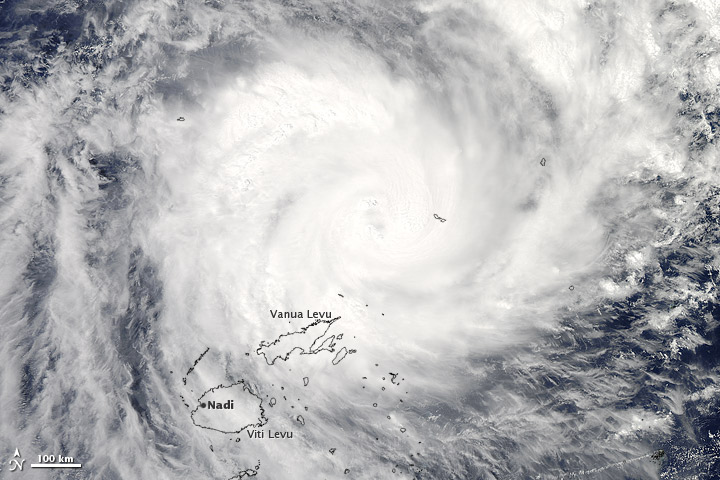 Tropical Cyclone Evan over Fiji