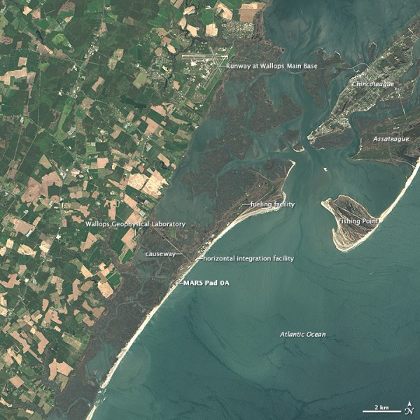 Landsat Image Gallery - Launching from Wallops Island