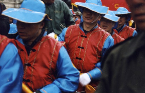 A bit of coordinated colours at the Chinese new year celebration in Paris, 2003.