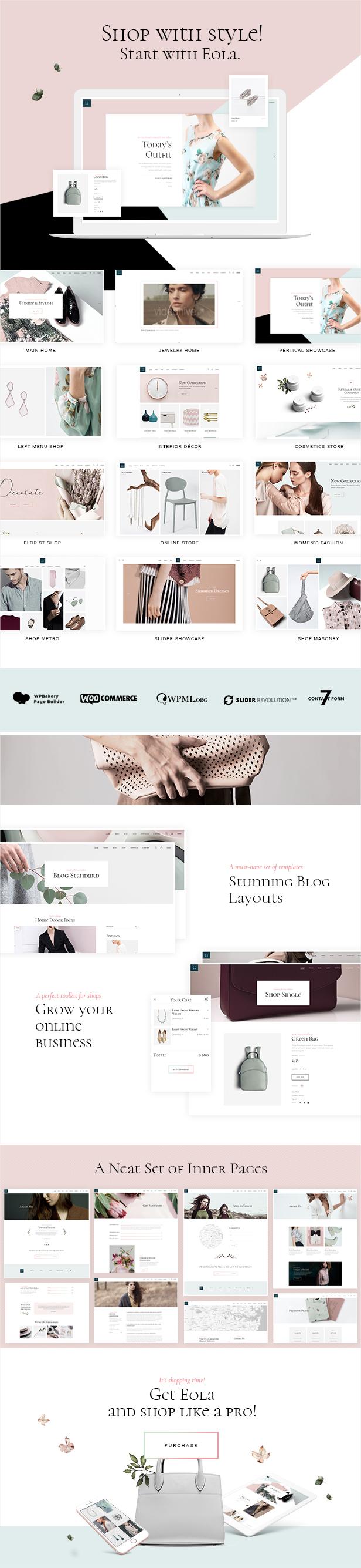 Eola - Elegant WooCommerce Theme - 1