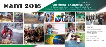 Haiti Cultural Exchange Flyer