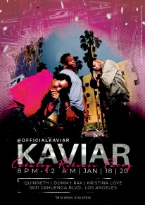 KAVIAR Music Web Promo Flier