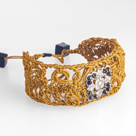MELUSINE Bracelet en crochet fait main