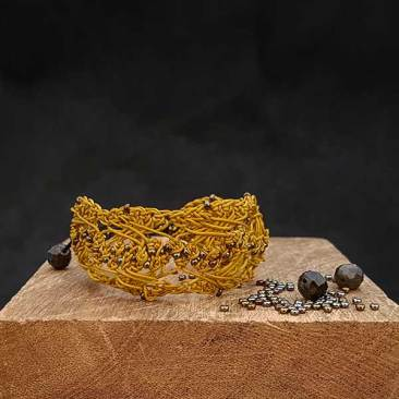 GUILLEMETTE bracelet en crochet fait main