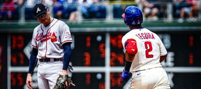 The Phillies get beat badly.
