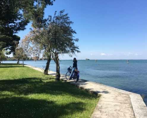 Direzione Pellestrina in bici