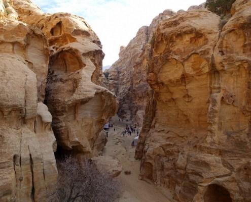 vista da Little Petra