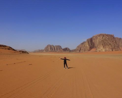 Trekking in Giordania nel deserto del Wadi Rum