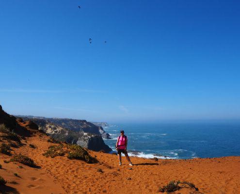 sabbia rossa lungo il Cammino