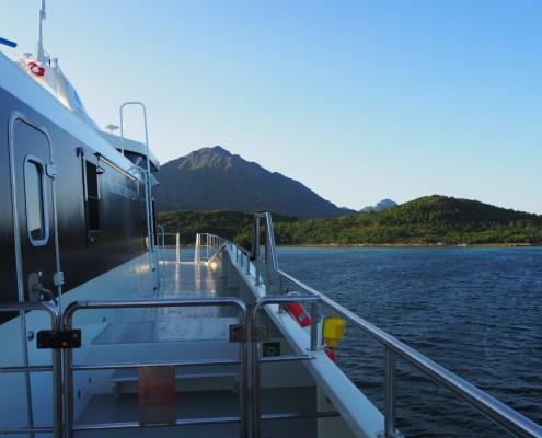 a bordo dell'aliscafo per le Isole Lofoten