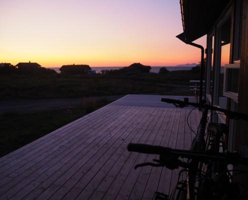 vista sole di Mezzanote a Gimsoya