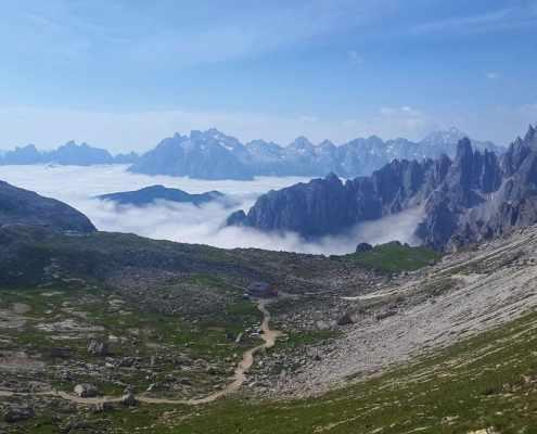 Panorama Giro delle Tre Cime