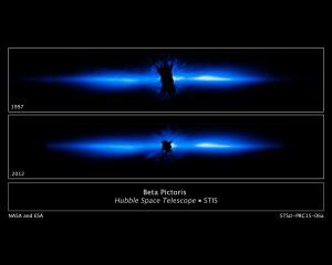 Beta Pictoris debris disk seen by HST/STIS.