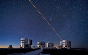 The four 8.2 meter telescopes that comprise the Very Large Telescope (VLT) in Chile's Atacama Desert.