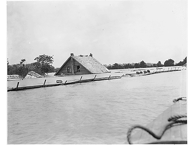 The 1927 flood on the Lower Mississippi River was one of the most destructive in U.S. history.