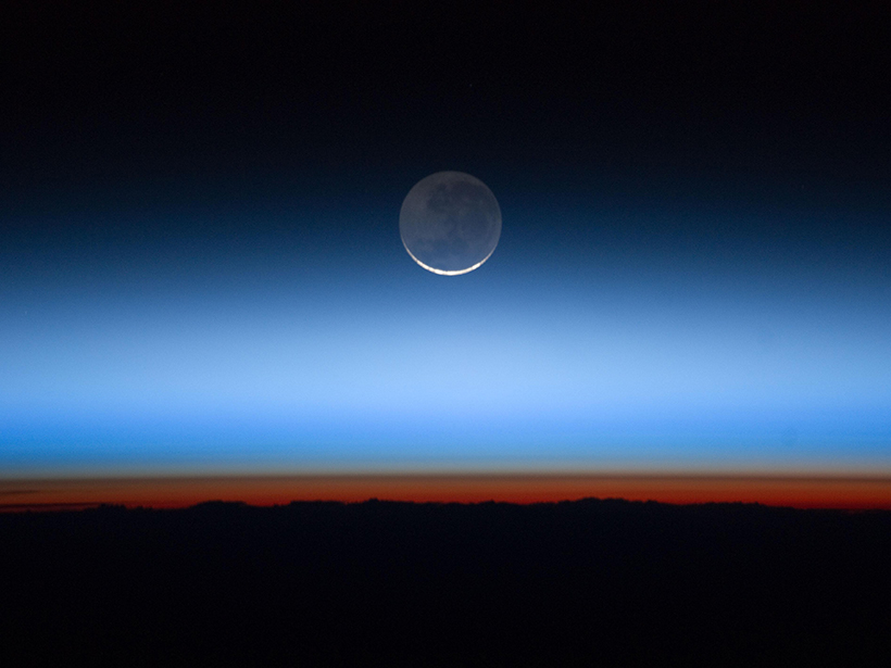 The stratosphere, seen here as the blue region above the red-orange troposphere, sports a mysterious wind anomaly in its quasi-biennial oscillation, scientists say.