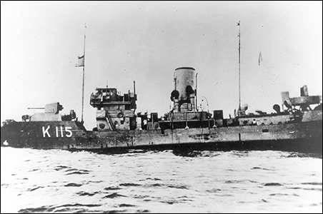 HMCS Lévis on 19 September 1941, just before it sank.