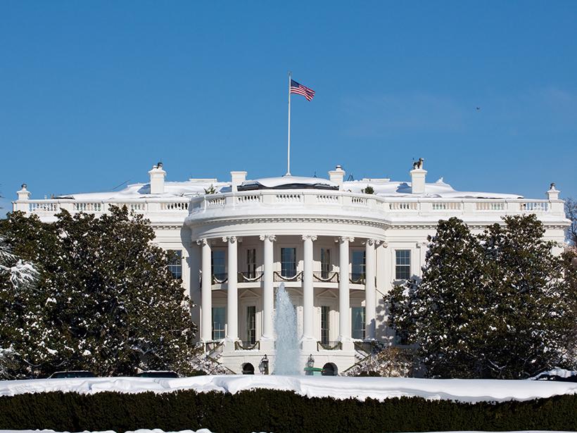 Whitehouse in winter