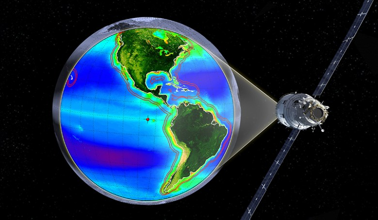 The GEO-CAPE sensor would measure coastal ocean colors to monitor ecosystem changes, especially in coastal regions.