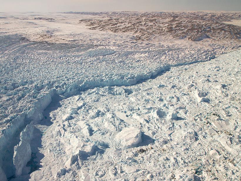 glacier calving front