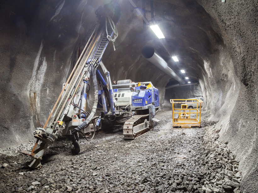 Processes like mining and drilling tunnels, which displace material from the subsurface, can induce earthquakes.