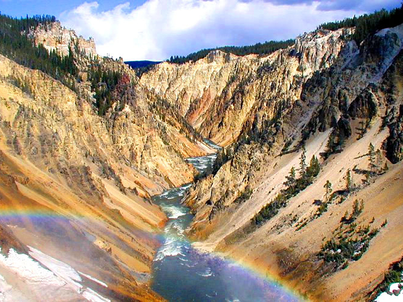 View of the Grand Canyon of Yellowstone National Park