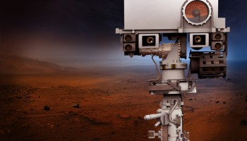 Artist's conception of the instrument mast for NASA's Mars 2020 rover.
