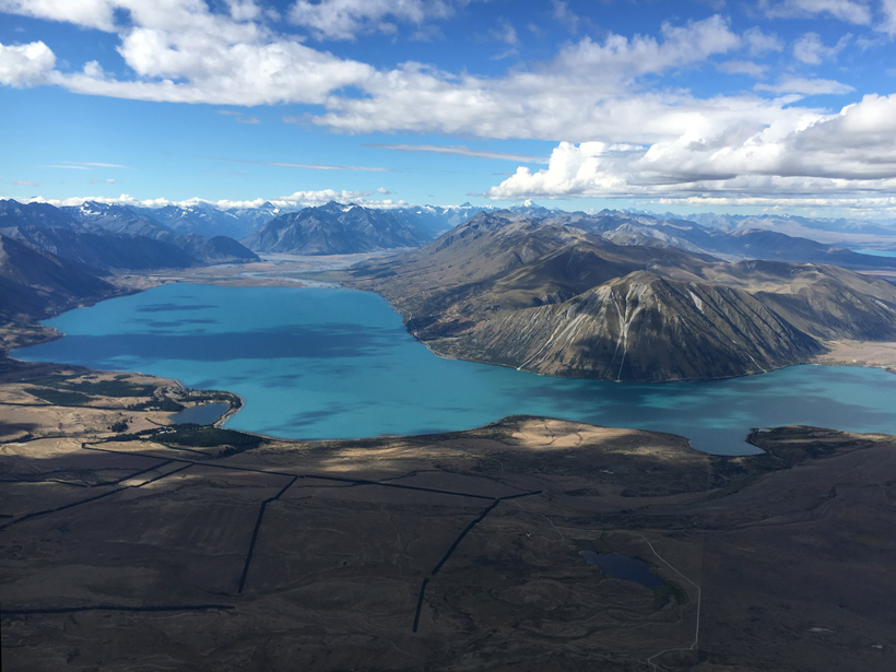 For 17,000 years, rain has washed sediments down the slopes of New Zealand's Southern Alps, depositing them in Lake Ohau.