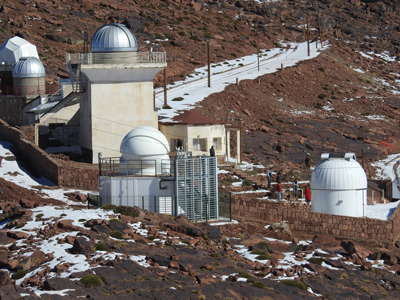 Morocco's Astronomical Observatory of Cadi Ayyad University, nestled in the Atlas Mountains.