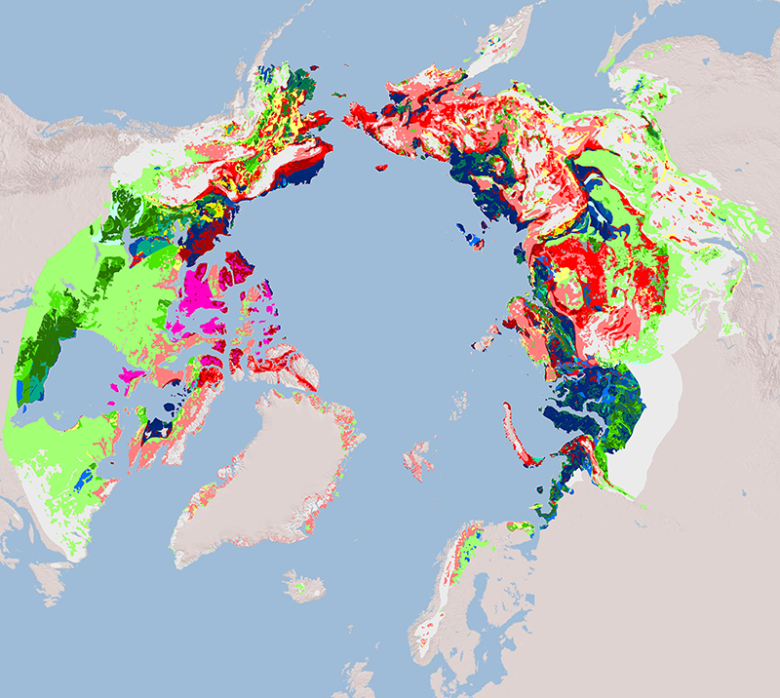 Map of vulnerable permafrost