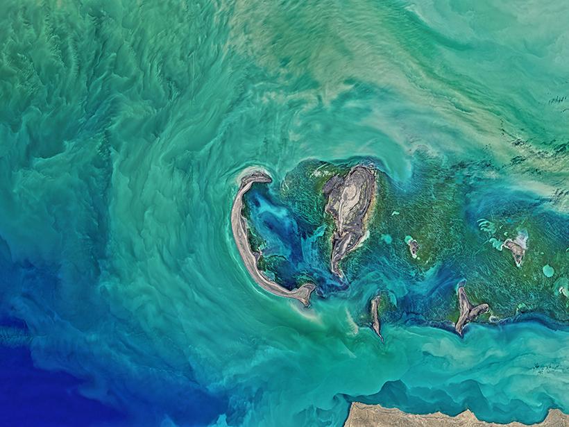 Caspian Sea from NASA's Landsat 8