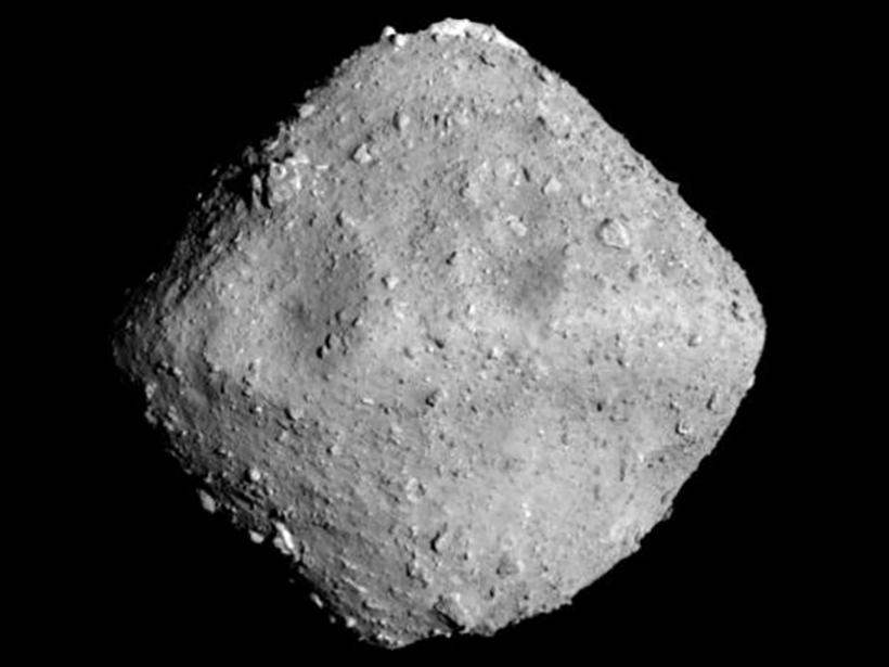 Asteroid Ryugu imaged by Japan's Hayabusa2 spacecraft