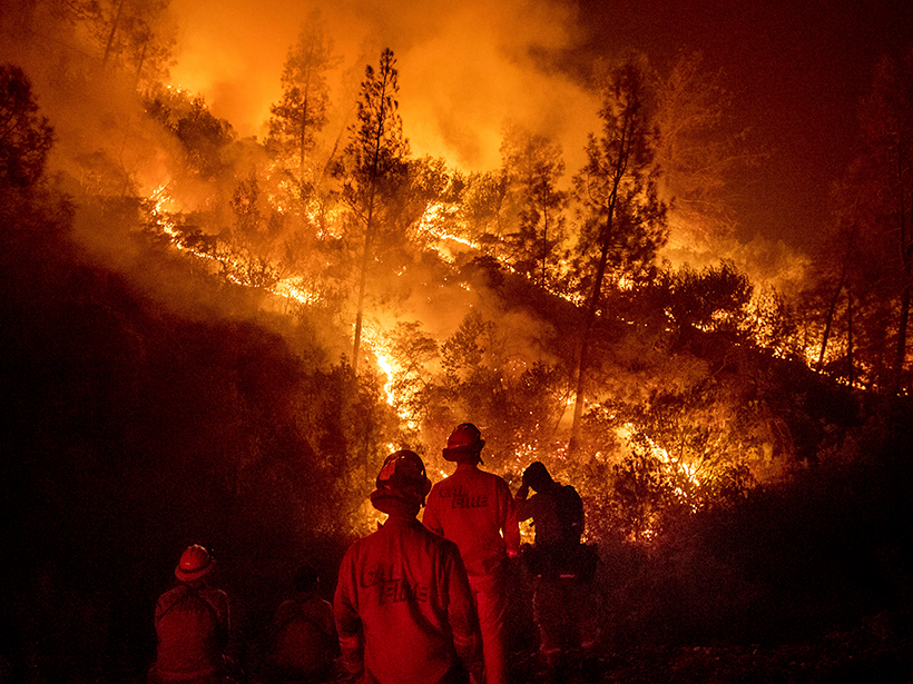 Firefighters at the Ranch Fire in California