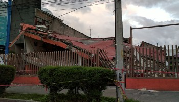 Collapsed building in the Xochimilco borough of Mexico City after the M7.1 Puebla earthquake on 19 September 2017.