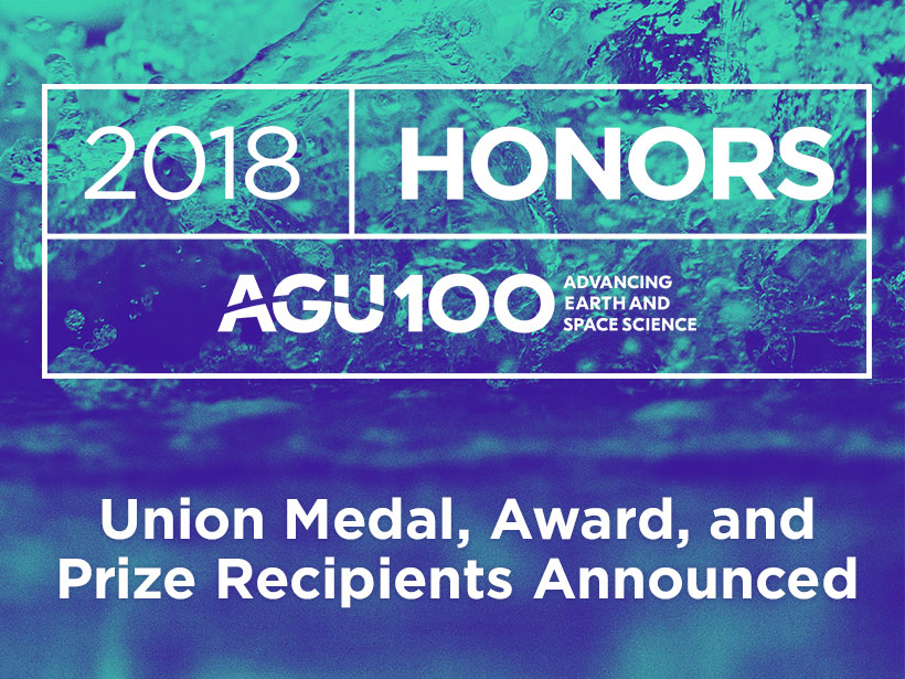 AGU Union medal, award, and prize recipients image