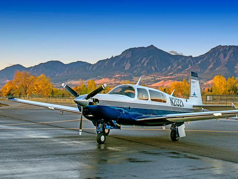 A modified Mooney aircraft owned by Scientific Aviation, a company that will donate free flight time next year to scientists.